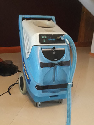 ... This machine works well for heavely soiled carpet and big size rugs. The hot water will catalyze chemical cleaning power and shorten up drying sequence